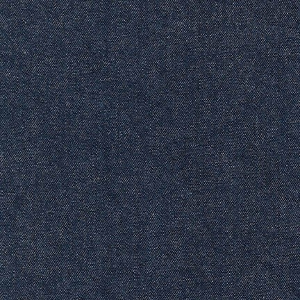 Robert Kaufman - Indigo Denim 8 OZ - Indigo Washed - Extra Wide 142cm