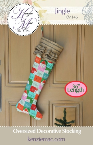 Kenzie Mac - Jingle Oversized Decorative Christmas Stocking Pattern