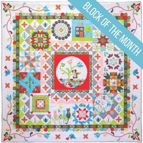 Patchwork Puzzle Quilt - Block of the Month