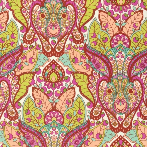 Freespirit - Slow and Steady by Tula Pink - The Hare in Orange Crush