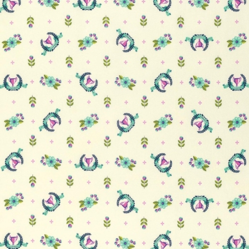 Freespirit - Slow and Steady by Tula Pink - Winners Circle in Blue Raspberry ***REMNANT PIECE 90CM X 112CM***