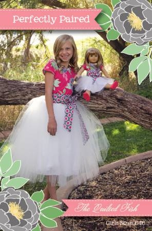 The Quilted Fish - Perfectly Paired Girls & Dolls Dress - Sizes 6 to 16