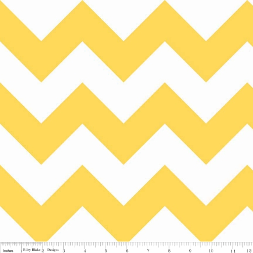 Riley Blake - Large Chevron in Yellow  *** REMNANT PIECE 92CM X 112CM ***