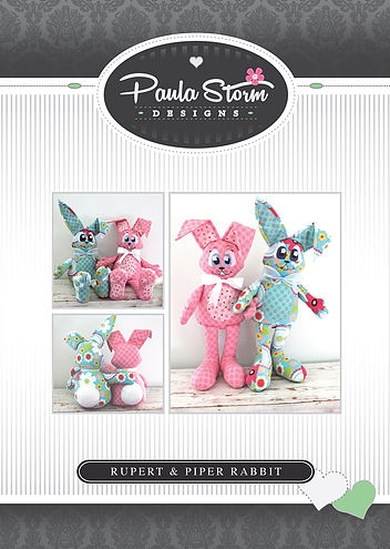 Paula Storm Designs - Rupert & Piper Rabbit Softie Pattern
