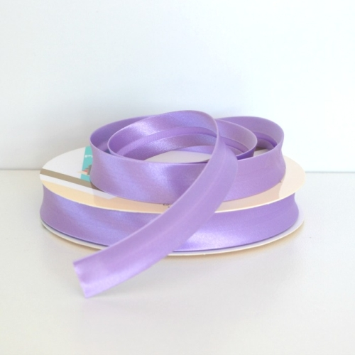 Satin Bias Binding Trim 18mm Single Fold - Lavender