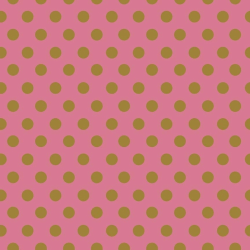 Riley Blake Designs - On Trend Dot in Raspberry with Metallic Gold Sparkle