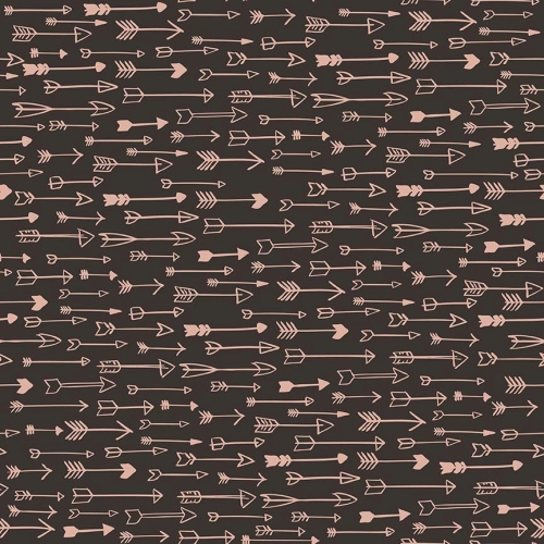 Riley Blake Designs - Yes Please Arrows Black with Rose Gold Metallic