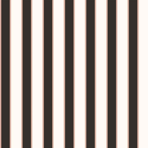 Riley Blake Designs - Yes Please Stripes Black with Rose Gold Metallic