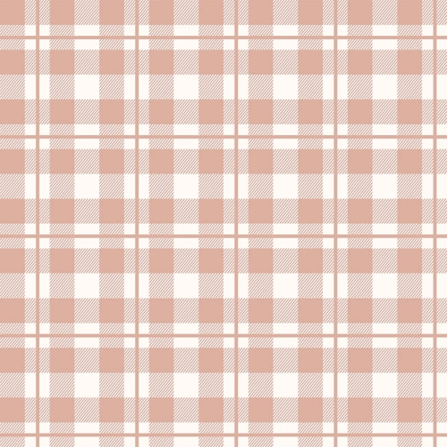 Riley Blake Designs - Yes Please Plaid Cream with Rose Gold Metallic