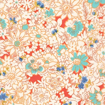 Robert Kaufman - London Calling 5 Lawn - Coral