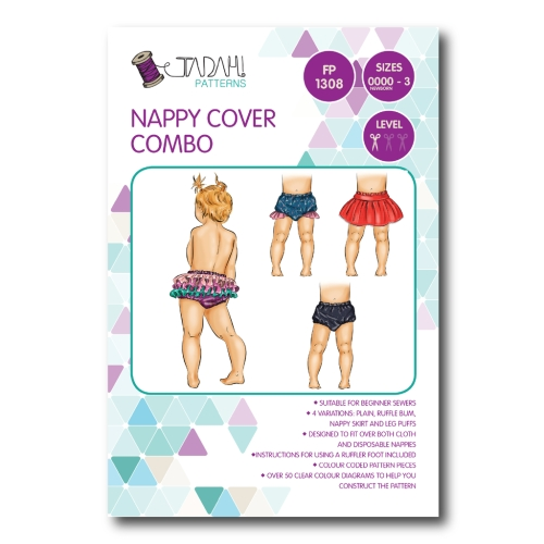 Tadah Patterns - Nappy Cover Combo Pattern