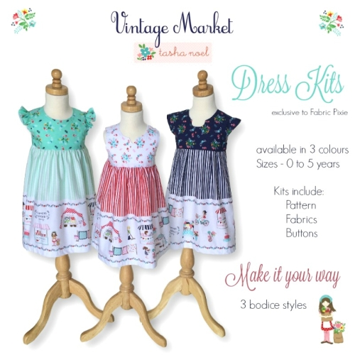Vintage Market Girls Dress Kit - Sizes 0 to 5