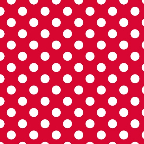 Riley Blake - Medium Dots / Spots in Red / White