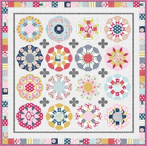 Sue Daley Designs - Fruit Tingles Quilt Pattern, Papers and Templates