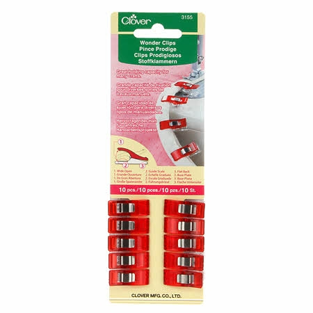 Clover - Wonder Clips - Red 10ct