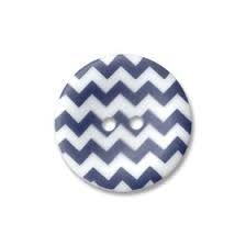 Riley Blake Designs - Chevron Round Buttons 1 inch Navy