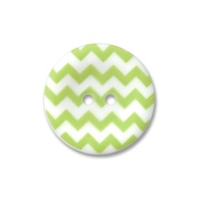 Riley Blake Designs - Chevron Round Buttons 1 inch Lime Green
