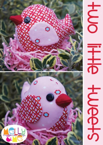 Melly and Me -Two Little Tweets Softie Mini Pattern