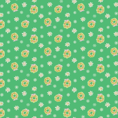 Penny Rose Fabrics - Little Joys - Wreath in Green