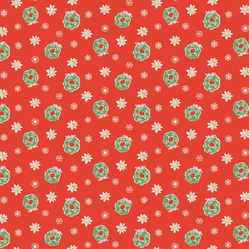 Penny Rose Fabrics - Little Joys - Wreath in Red *** FAT QUARTER ***