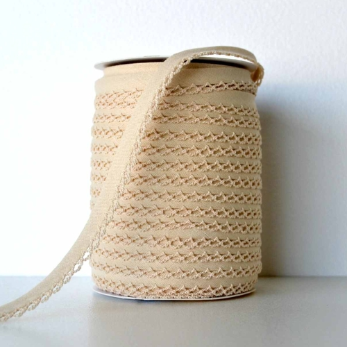 Picot Edge Bias Binding Trim - Natural