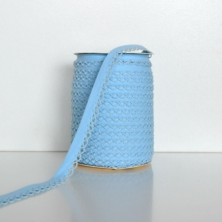 Picot Edge Bias Binding Trim - Baby Blue