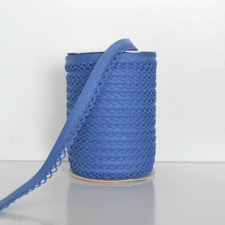 Picot Edge Bias Binding Trim - Cornflower Blue