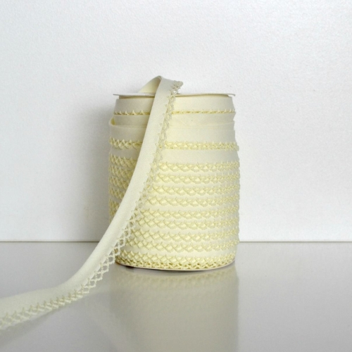 Picot Edge Bias Binding Trim - Cream