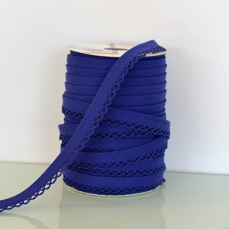 Picot Edge Bias Binding Trim - Deep Blue