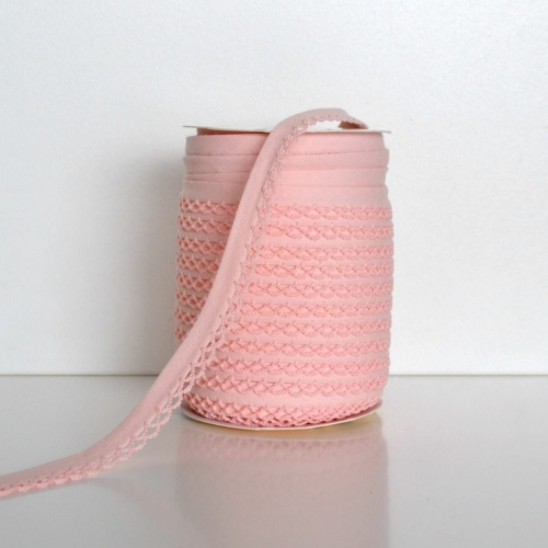 Picot Edge Bias Binding Trim - Peach