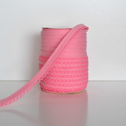 Picot Edge Bias Binding Trim - Pink