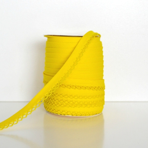 Picot Edge Bias Binding Trim - Yellow