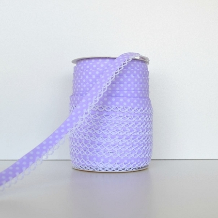 Picot Edge Bias Binding Trim - Lilac Spot