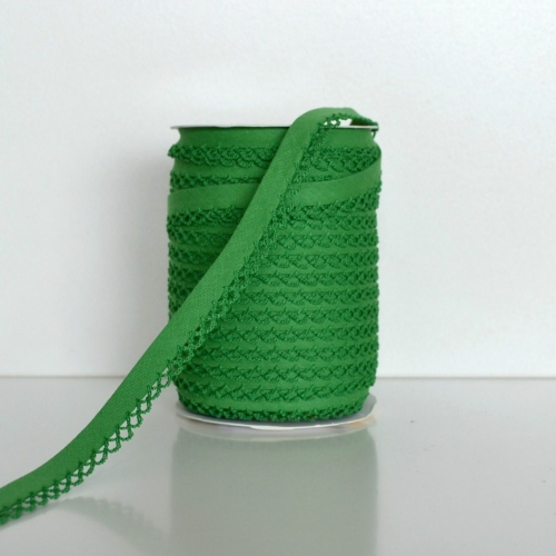 Picot Edge Bias Binding Trim - Green