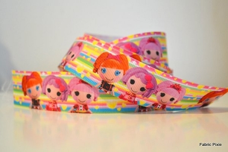 Printed Grosgrain Ribbon - La La Loopsy Rainbow - 22mm