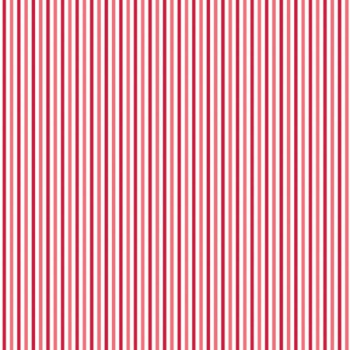 Riley Blake Designs - Merry Matryoshka Stripe in Red *** REMNANT PIECE 84CM X 112CM ***