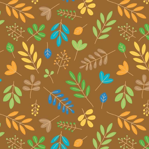 Riley Blake Designs - Zoofari - Leaves in Brown