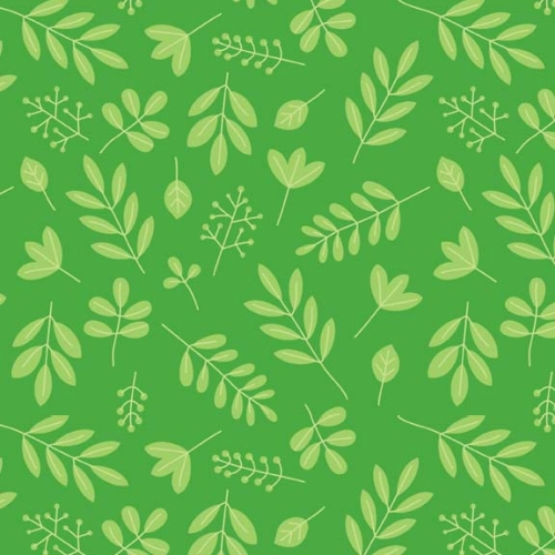 Riley Blake Designs - Zoofari - Leaves in Green *** REMNANT 3.83 METRE PIECE ***