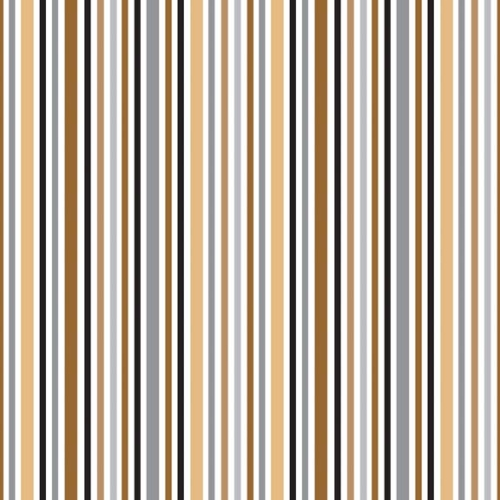 Riley Blake Designs - Zoofari - Stripes in Brown