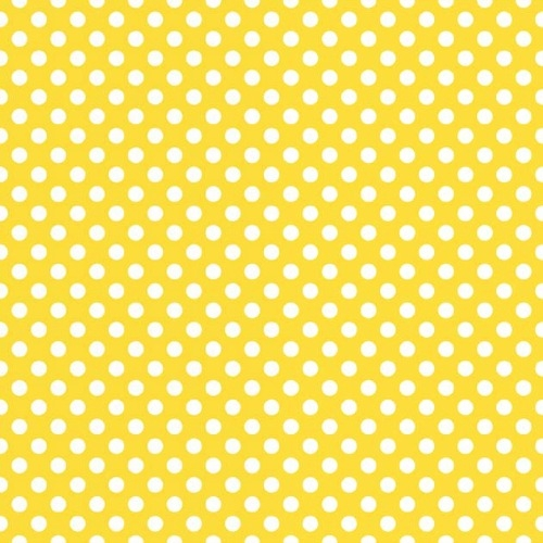 Riley Blake Designs - Small Dots / Spots in Yellow