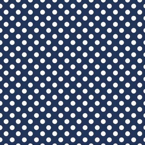 Riley Blake Designs - Small Dots / Spots in Navy / White