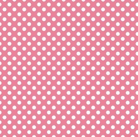 Riley Blake Designs - Small Dots / Spots in Hot Pink