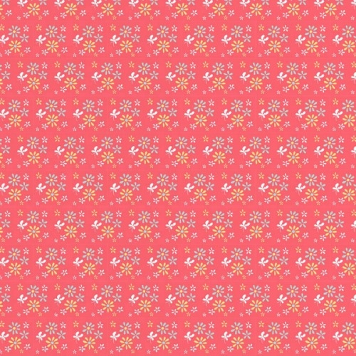 Riley Blake Designs - Butterfly Dance Flowers in Pink *** REMNANT 2.75 METRE PIECE ***