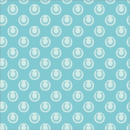 Riley Blake Designs - Derby Style - Derby Luck in Aqua