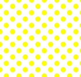 Riley Blake - Neon Dots / Spots in Neon Yellow on Off White *** REMNANT 2.36 METRE PIECE ***