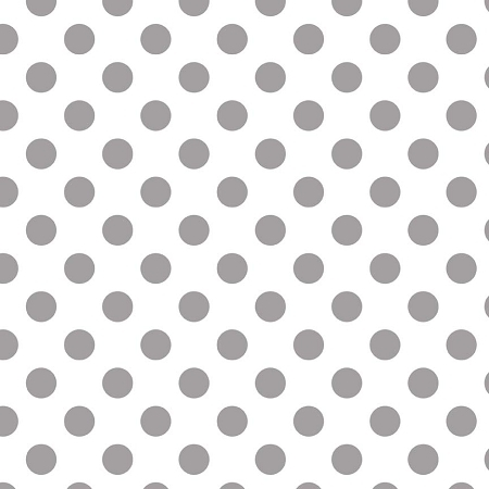 Riley Blake - Medium Dots / Spots in Grey on White