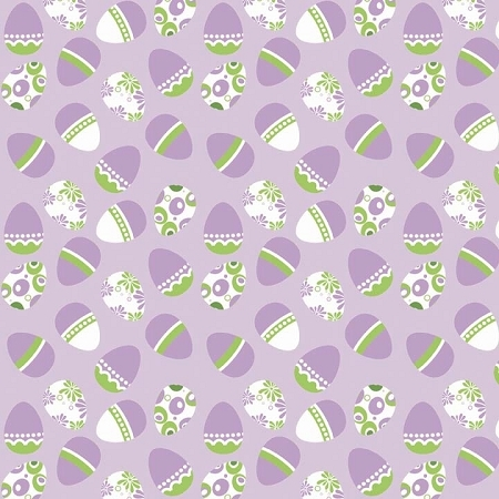 Riley Blake Designs - Easter Eggs in Purple