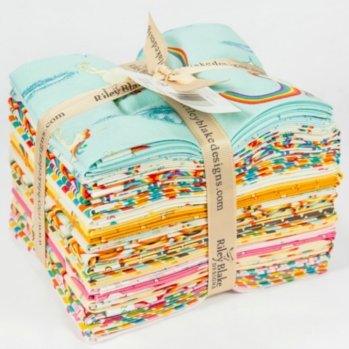 Riley Blake Designs - Unicorns and Rainbows Fat Quarter Bundle 21 fabrics