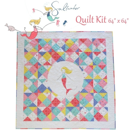 Riley Blake Designs - Saltwater - Mermaid Waters Quilt Kit - 64