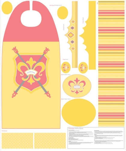 Riley Blake Designs - Dress Up Cape in Yellow
